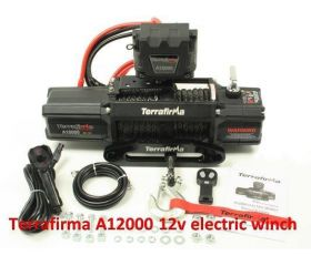 12000lb 12v winch with synthetic rope & wireless remote control