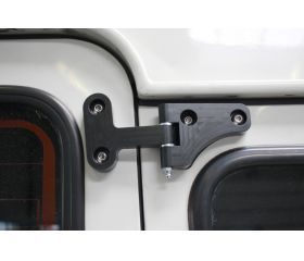 FerroForcia rear door hinge set (assembled / black anodized)