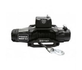 Bearmach Power Mach 12,000lb 12v Two Speed Winch with 10mmx27m Synthetic Rope & Wireless Remote - 12,000